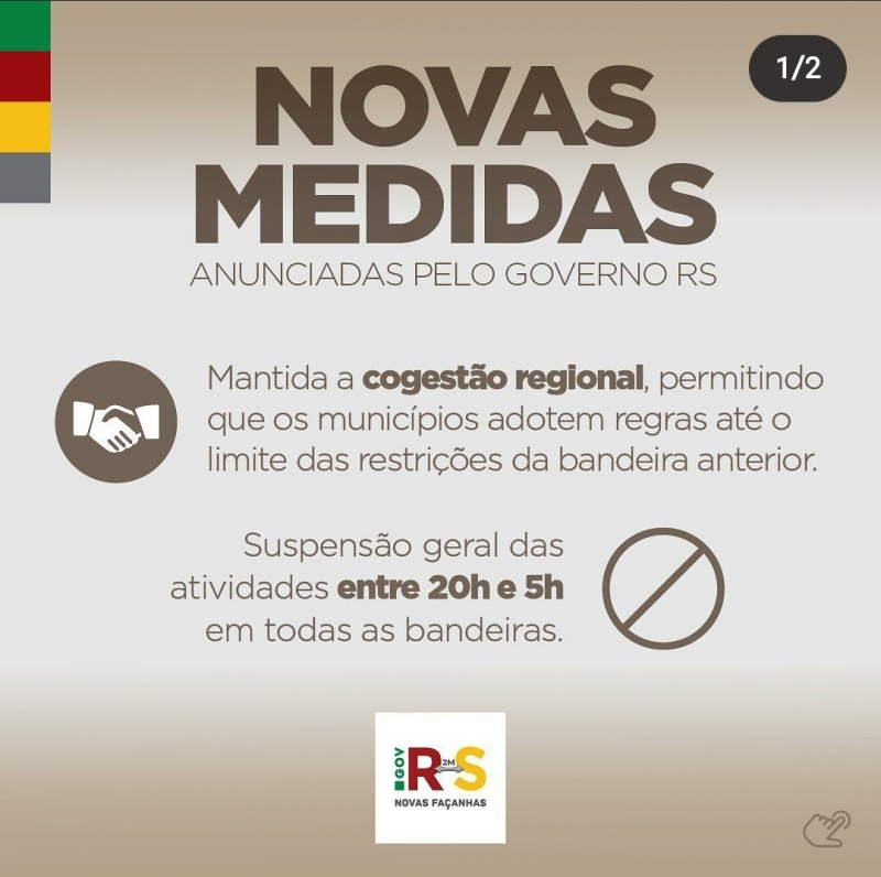 Governo do Estado anuncia novas medidas